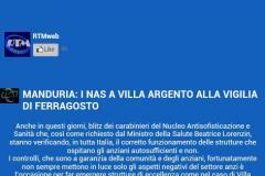 Villa Argento promossa a pieni voti dai NAS